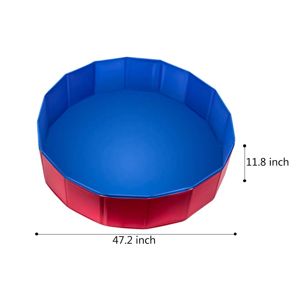 NEEDL CO Foldable Pet Swimming Pool - Pet Outdoor Swimming Playing Pond Dogs Grooming Shower & Kiddie Pools by NEEDL CO (Image #2)
