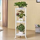 ZYN Flower Rack European Iron Multi-Layer Floor Balcony Flowerpot Plant Stand (Size : L35CMH92CM)