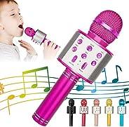 KIDWILL Wireless Bluetooth Karaoke Microphone for Kids …