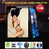 Q88 7 inch Allwinner A33, 1.5 Ghz Quad Core Google Android Tablet PC,1G+16G,Dual Camera,WiFi,Blue-Tooth,Mini USB,G-Sensor,Support SD/MMC/TF