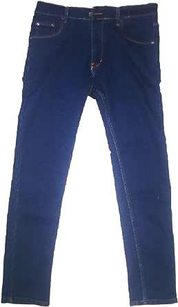 Men jeans stretch skinny type navy blue color