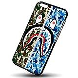 bape camo flag for iPhone 6/6s Black Case