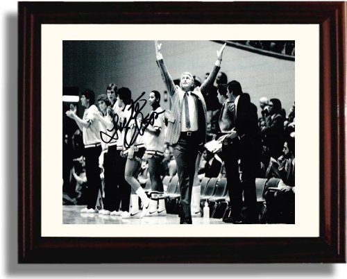 Framed Lute Olson Autograph Replica Print - Arizona Wildcats (Arizona Wildcats Framed)