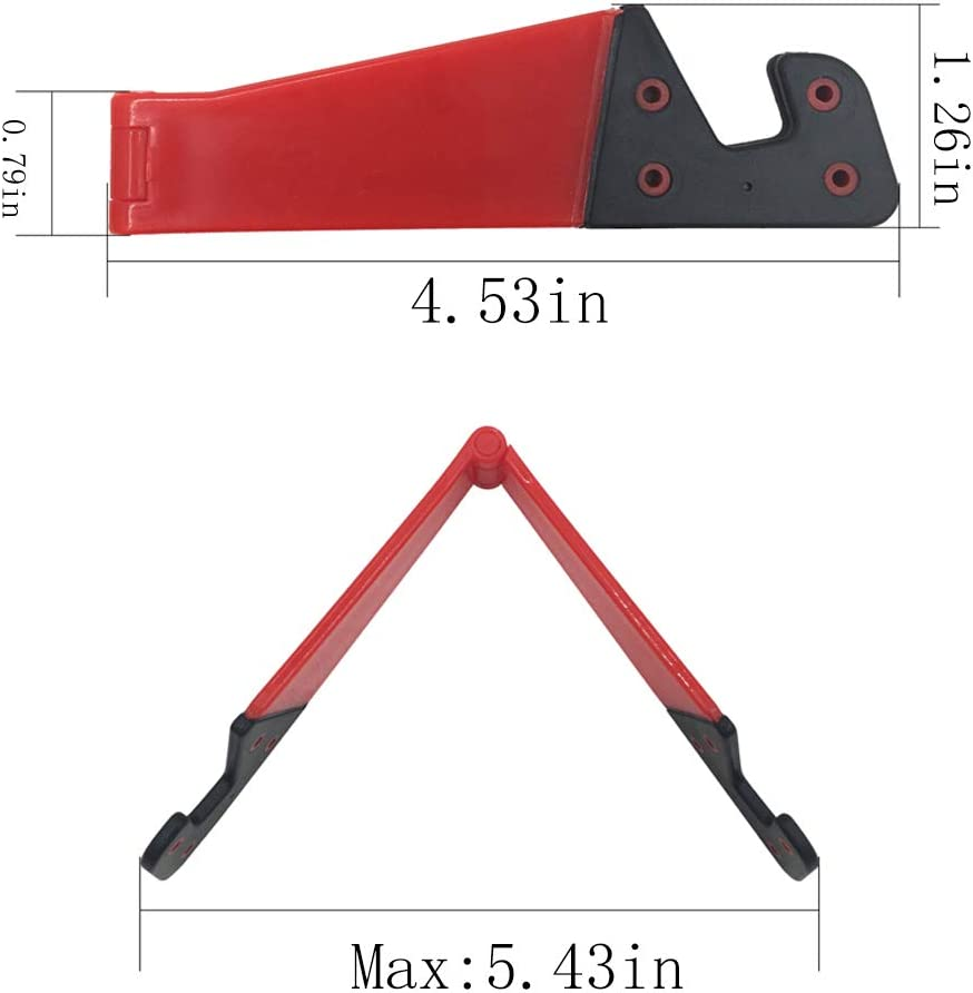 Universal Foldable Portable Smartphone Mobile Phone Vertical and Horizontal Mount Desktop Holder Cradle Compatible with iPads,Tablets,E-Reader Set of 10 Pocket-Sized Plastic V Model Cellphone Stand