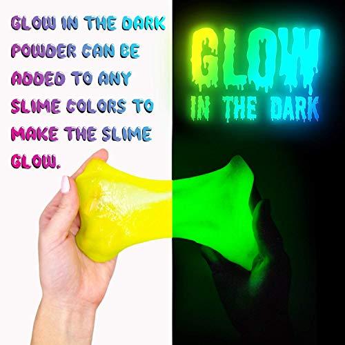 Slime Kit DIY Toy Stocking Stuffer Fidget Gift for Kids Girls Boys Ages 5-12, Glow in Dark Glitter Slime Making Kit…