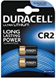 Duracell Ultra CR2 3V Lithium Photo Battery - DLCR2 - EL1CR2 - CR15H270 - Pack of 2
