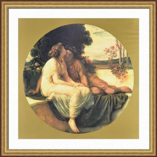 frederick-leighton-acme-septmus-framed-art-print-35x35-gold-finish-frame-museum-matted