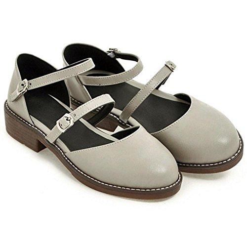 Women's Sandals TAOFFEN Shoes Strap Gray Ankle Classic AUHqv1