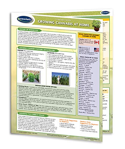 Growing Cannabis at Home Quick Reference Guide - Cannabis Educational Series by Permacharts ()