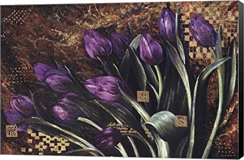 (Regal Tulips by Fangyu Meng Canvas Art Wall Picture, Museum Wrapped with Black Sides, 36 x 24 inches)