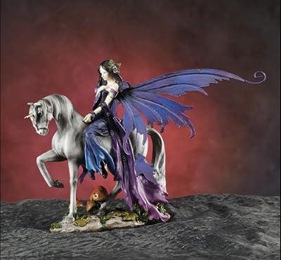 Gorgeous Fairy Collection Fairy Riding Unicorn Figurine Statue Shelf Desk Decoration