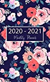 """2020-2021 Monthly Planner: 24-Month Pocket Planner & Calendar. Size: 4.0"""" x 6.5"""" ( Jan 2020  - Dec 2021). Pink Flowers Two Year  Personalized Planner, Password Log, Phone book"""
