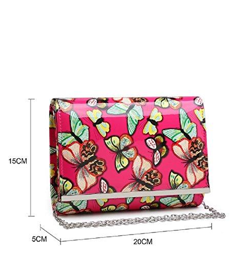 De Bolso Sobre Bolso De Mariposa De Ma35017 Las Del Las Señoras Del De De Mujeres Del Verde Noche Embrague Monedero Patente cqSq0YOW