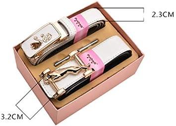 KISlink Cinturón con Hebilla automática para Mujer Caja de Regalo Cinturones con Encanto Sencillos Populares: Amazon.es: Hogar