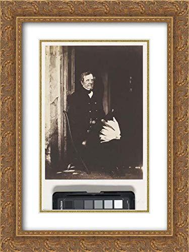 Roger Fenton - 28x40 Gold Ornate Frame and Double Matted Museum Art Print - Field Marshall Lord Raglan, - Raglan Field