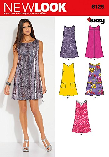 New Look Sewing Pattern 6125 - Misses\' Dress Sizes: A (10-12-14-16 ...