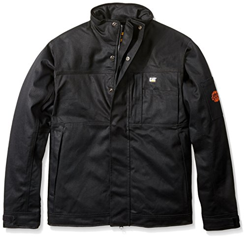 Caterpillar Men's Flame Resistant Insulated Jacket, Flame Resistant Black, Large