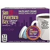 San Francisco Bay OneCup Hazelnut Crème (12 Count) Single Serve Coffee Compatible with Keurig K-cup Brewers Flavored Single Serve Coffee Pods, Compatible with Cuisinart, Bunn single serve brewers
