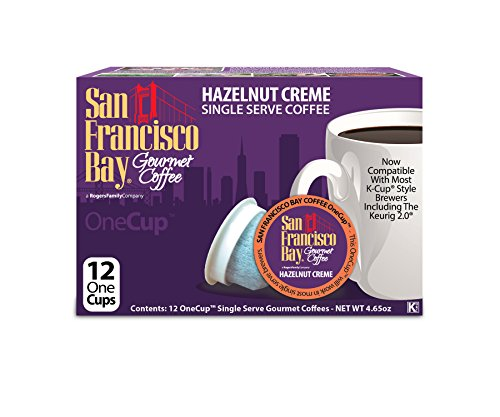 San Francisco Bay OneCup, Hazelnut Crème, 12 Count- Single Serve Coffee, Compatible with Keurig K-cup Brewers, Flavored