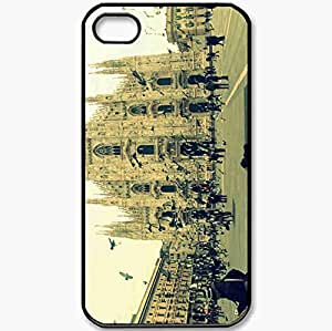 Protective Case Back Cover For iPhone 4 4S Case Italy Milan Sabor Black