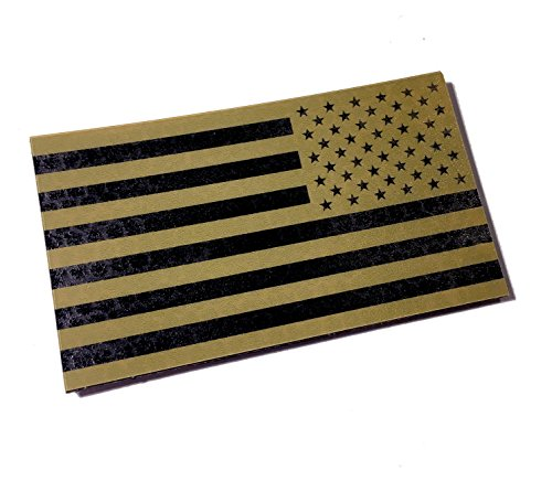 Empire Tactical USA Reversed 3.5x2 Inch Infrared Coyote Brown IR Reflective Us Flag Patch Us Army Special Forces Green Beret Cag