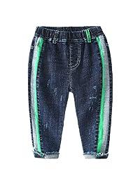 Baletongnian Boy Jeans Soft Casual Elastic Denim Trousers Pant