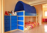 KAO Mart Canopy Tent for Ikea Kura Bed (Blue)