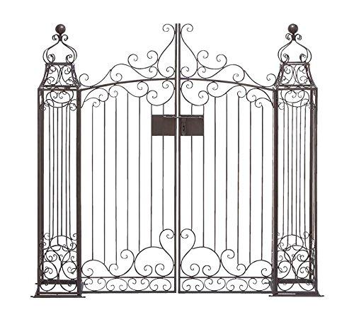 Black Swinging Door : Home decor black wrought iron garden gate door classic