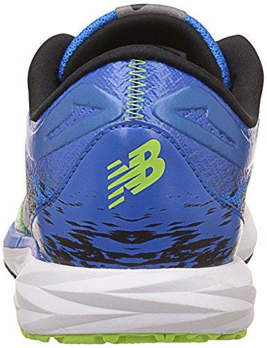 Nouvel Équilibre Des Hommes De Chaussures De Course Stroboscopique Bleu Électrique / Jade Noir / Vif