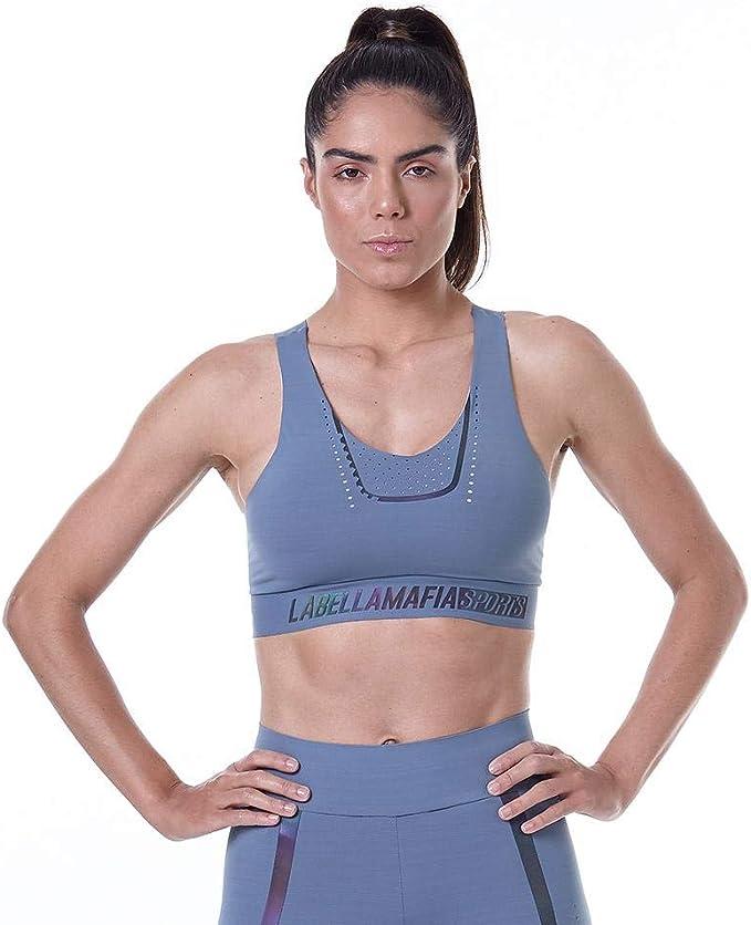 Aleumdr Womens Racerback Sports Bras High Impact Padded Workout Gym Activewear Bra