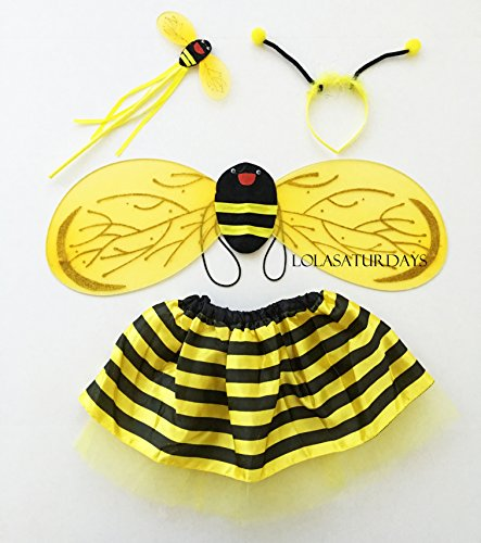 Bee Tutu Costumes (Lolasaturdays Fairy wing and dress set (Bee))