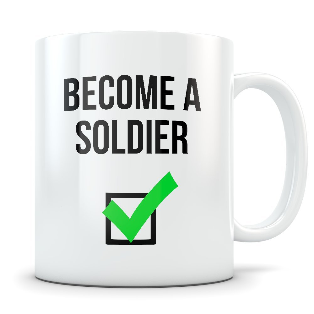 Army卒業ギフト – コーヒーマグおめでとうございますギフトfor Men and Women army graduates – 面白いギフトfor Students Graduating Boot Campトレーニング B078L6JWVG