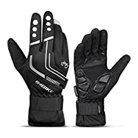 INBIKE Men's Windproof Reflective Ultra Thermal Cycling Bike Gloves with Thick Gel Padding