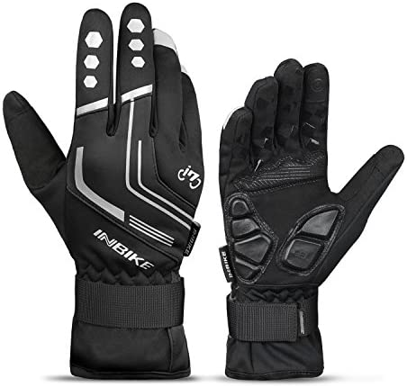 Touch Screen Winter Bike Bicycle Thermal Warm Gloves Windproof Windstopper I8X2D