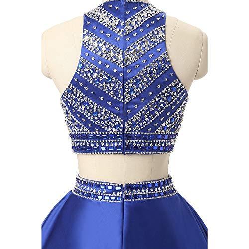 Us18 Soirée Bleu Mode Printemps Taille La Fengbingl Sexy À Perlée Bleu Robe Femme Pour couleur Automne De xZnga
