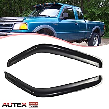 AUTEX Tape On Window Visor Guards Deflectors Fits for 93 94 95 96 97 98 99  00 01 02 03 04 05 06 07 08 09 10 11 Ford Ranger 1994-2009 Mazda B2300 B4000  ... 2378a725306