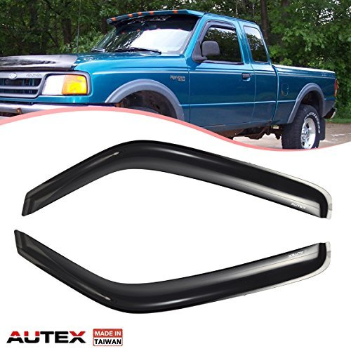 (AUTEX Tape On Window Visor Guards Deflectors Compatible with Ford Ranger 1993-2001 Compatible with Mazda B2300 B4000 1994-2009 and B2500 1998-2001 and B3000)