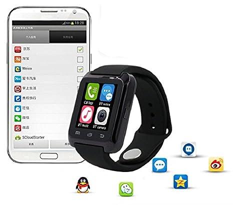 Culater® Bluetooth inteligente muñeca sana reloj para iPhone LG Samsung teléfono Blanco: Amazon.es: Relojes