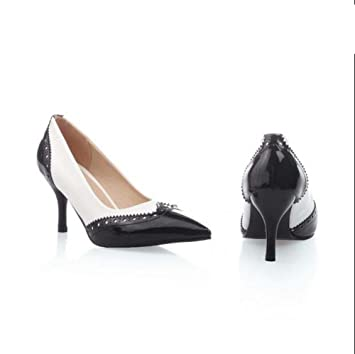 Zapatos de mujer de cuero sintético Spring Summer Stiletto Heel Split Joint para vestido de fiesta
