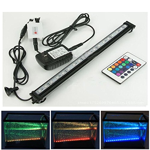 xcellent global 18 inch 27 rgb led multi color remote underwater submersible aquarium led light. Black Bedroom Furniture Sets. Home Design Ideas