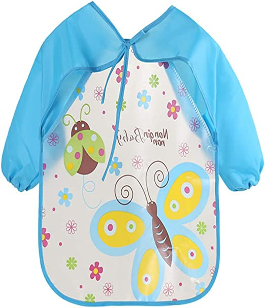 BABY BIB MESSY PLAY WIPE CLEAN COVERAL