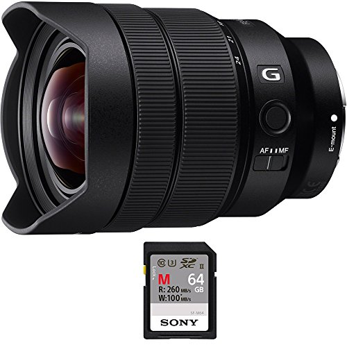 Sony FE 12-24mm F4 G E-Mount Ultra Wide-angle Zoom Lens (SEL1224G) with Sony 64GB Memory Card by Sony