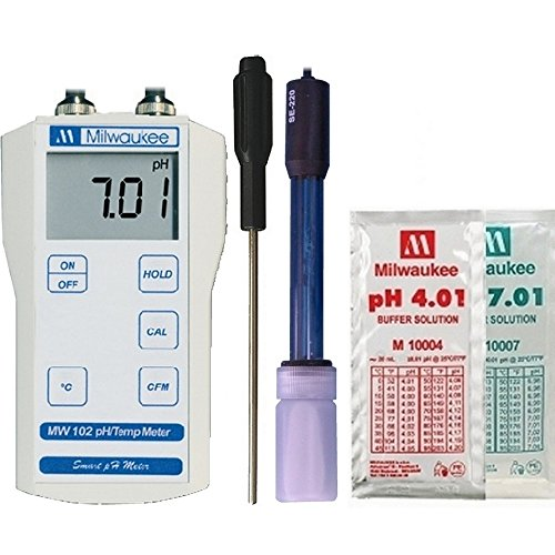 Milwaukee MW102 Digital pH / Temperature meter w/ (Milwaukee Ph Meter)