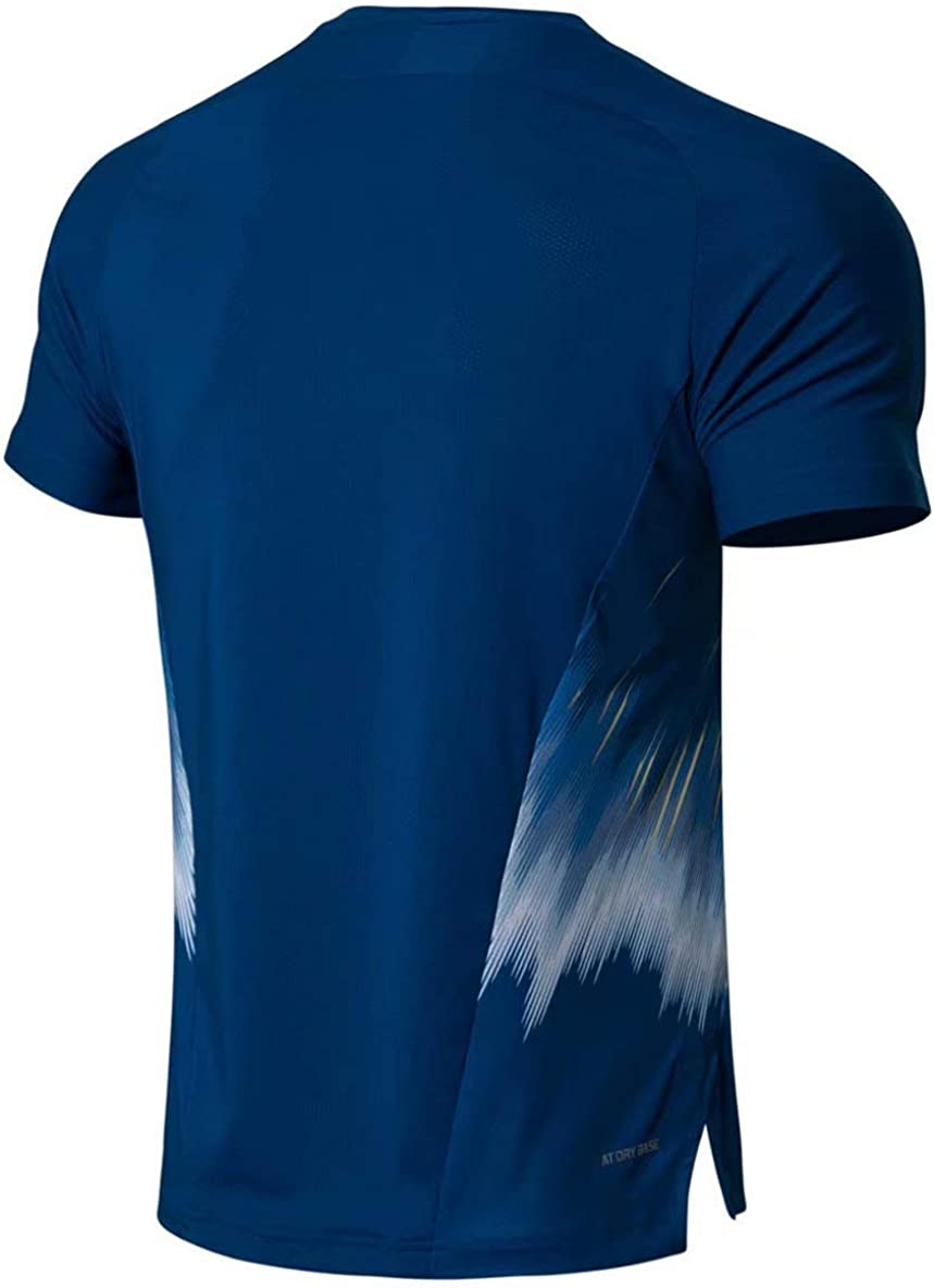 LI-NING Men Badminton T-Shirts National Team Sponsor Fans Version at Dry Breathable Sports Competition Tees AAYN261