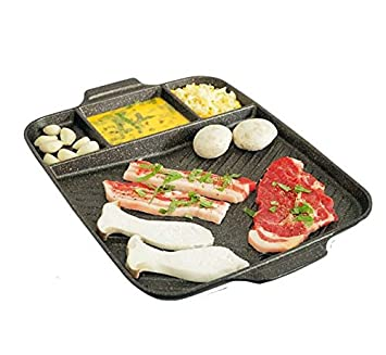 Jumbo tamaño Multi coreano barbacoa carne sartén parrilla ...