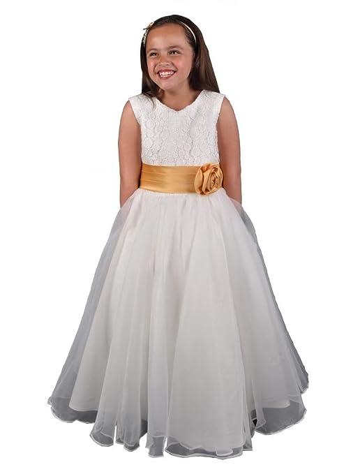 Jessidress Vestido de ceremonia Damitas de Honor Nina de Arras Comunion Vestido de Fiesta 2 años