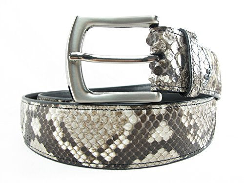 PELGIO Genuine Python Snake Skin Men's Belt 46