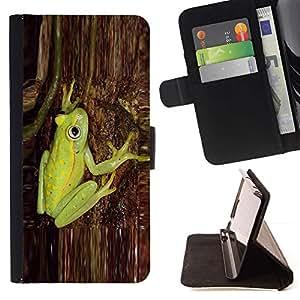 For Samsung Galaxy S5 V SM-G900 Case , Verde corteza de árbol natural de la Selva- la tarjeta de Crédito Slots PU Funda de cuero Monedero caso cubierta de piel