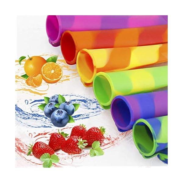 joyoldelf Ghiaccioli Stampo, Set di 6 Formine per Ghiaccioli, Stampi Ghiaccio in Silicone(Marrone) 3 spesavip