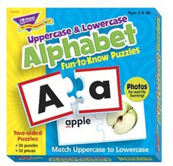 Fun To Know Puzzles Uppercase & Lowercase Alphabet -- Case of 4